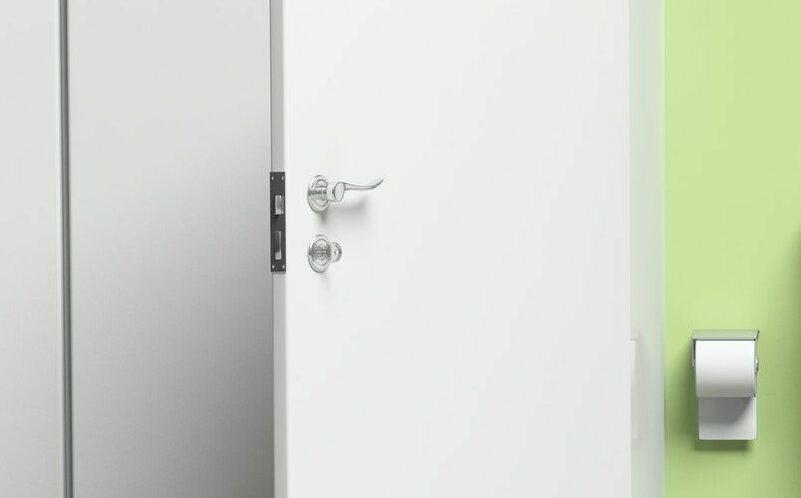 Toiletdørlås med vrider, montering af lås med vrider til skoler, intuitioner, erhverv og privat København og Nordsjælland. Låse Toiletdørlås priser